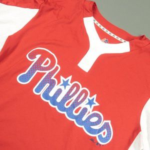Majestic Coolbase Red Philadelphia Phillies Jersey